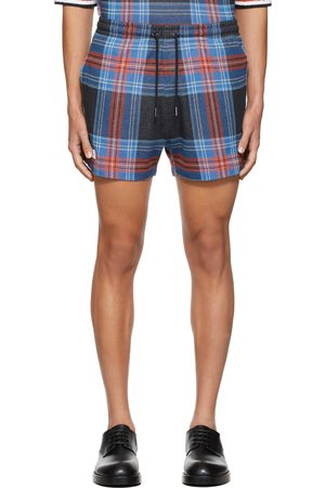 Charles Jeffrey Loverboy Blue & Black Fred Perry Edition Tartan Pique Shorts