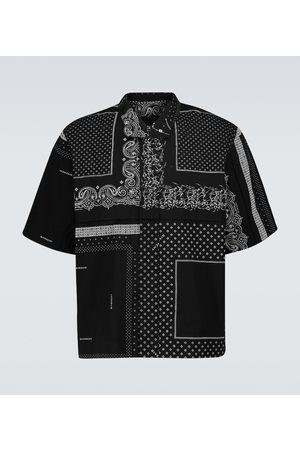 Givenchy Men Short Sleeve - Printed short-sleeved cotton shirt