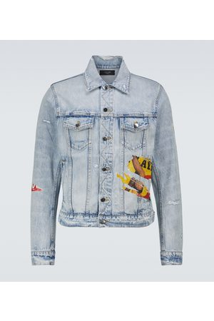 AMIRI Men Denim Jackets - Playboy denim trucker jacket