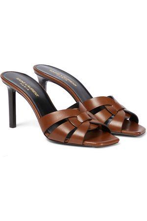 Saint Laurent Tribute 85 leather sandals