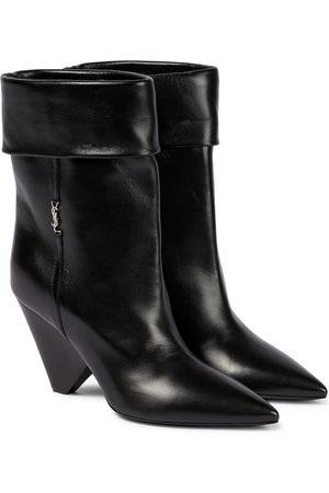 Saint Laurent Women Ankle Boots - Liz 85 leather ankle boots