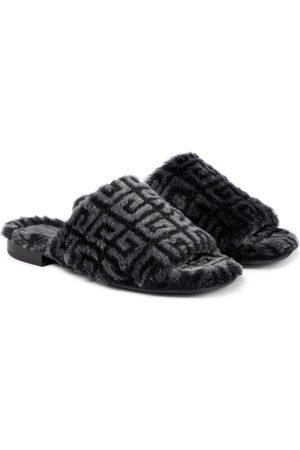 Givenchy 4G shearling sandals