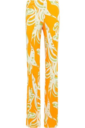 Emilio Pucci Printed jersey flared pants