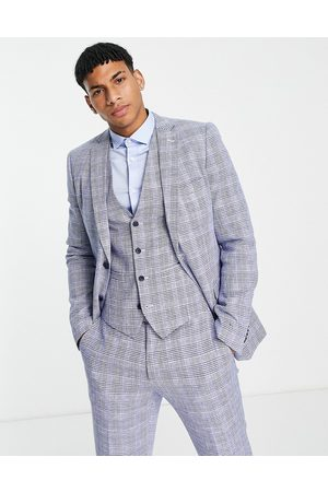 French Connection Slim fit checked suit jacket