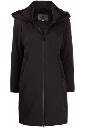 Peutery Hooded mid-length coat