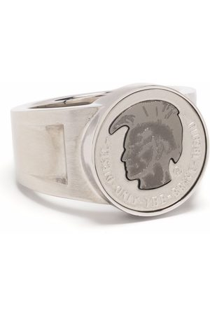 Diesel Mohican-head stamp signet ring