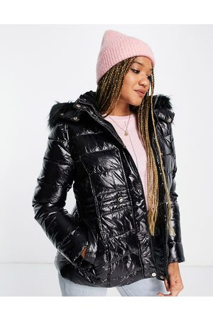 New Look Leather look puffer in