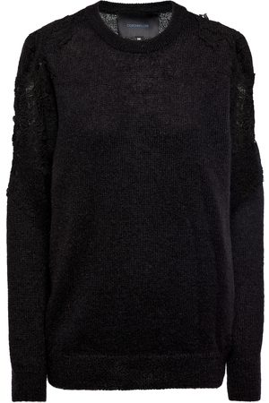 Costarellos Mattie lace appliqué sweater
