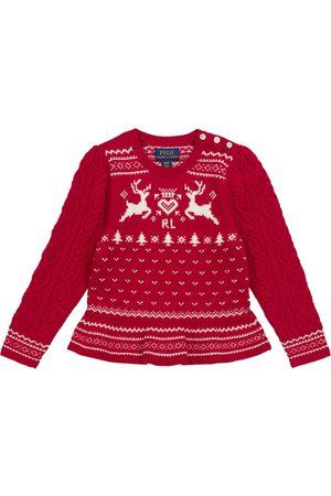 Ralph Lauren Girls Jumpers - Fair Isle cotton-blend sweater