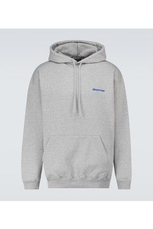 Balenciaga Men Sweatshirts - Medium-fit hooded sweatshirt