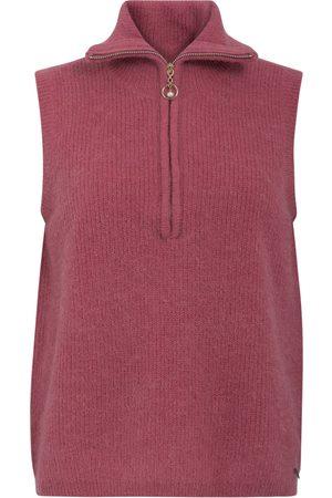 Coster Copenhagen Women Vests - Vest With Zipper in Alpaca - Shocking
