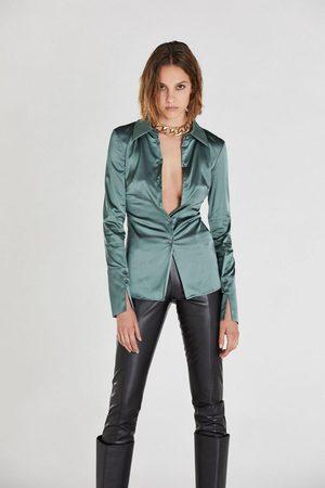 Patrizia Pepe Women Long Sleeve - Screen Grey Long-Cuffed Shirt