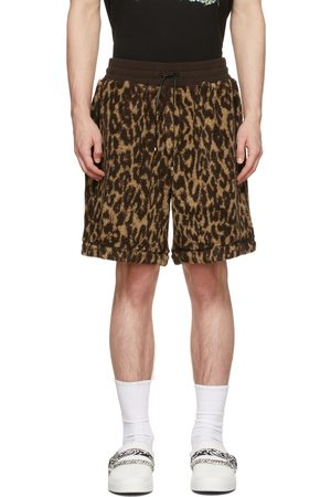 AMIRI Men Shorts - & Tan Printed Leopard Shorts