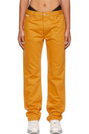 Calvin Klein Women Straight - Orange Season 2 Straight-Leg Jeans