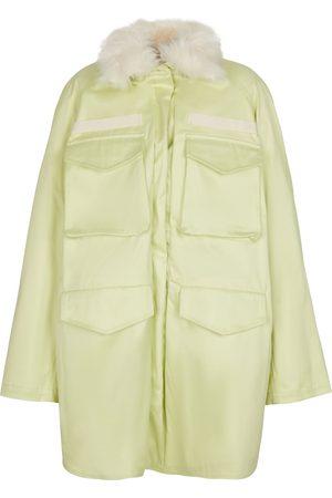 The Attico Janet faux fur-trimmed cotton parka
