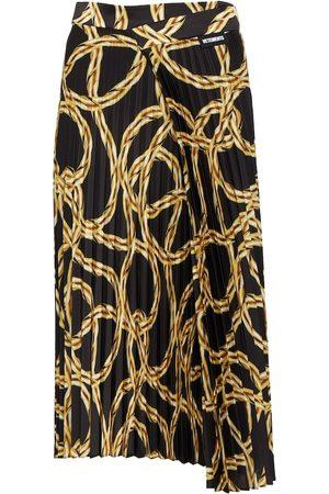 Vetements Printed pleated midi skirt