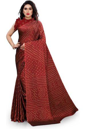 KALINI Women Sarees - Women Maroon Printed Chiffon Saree