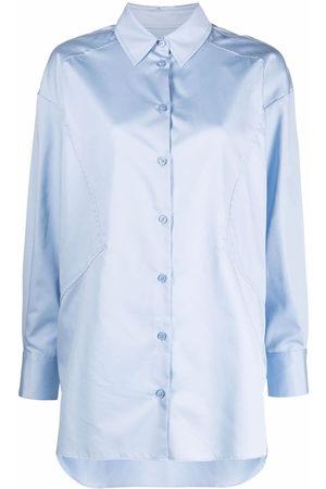 12 STOREEZ Appliqué button-up shirt