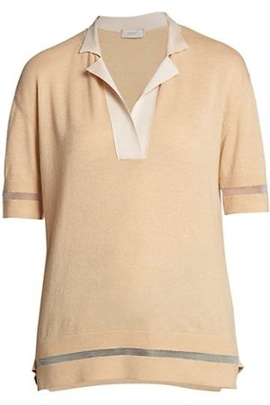Agnona Transparent Stripe Polo