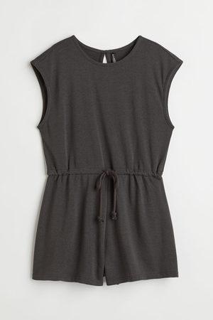 H&M Women Playsuits - Drawstring playsuit - Grey