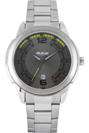 Titan Octane Men Gunmetal-Toned Dial Watch 1585SM07
